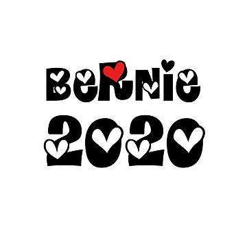 Bernie Sanders for President 2020 (red heart) by emimarie