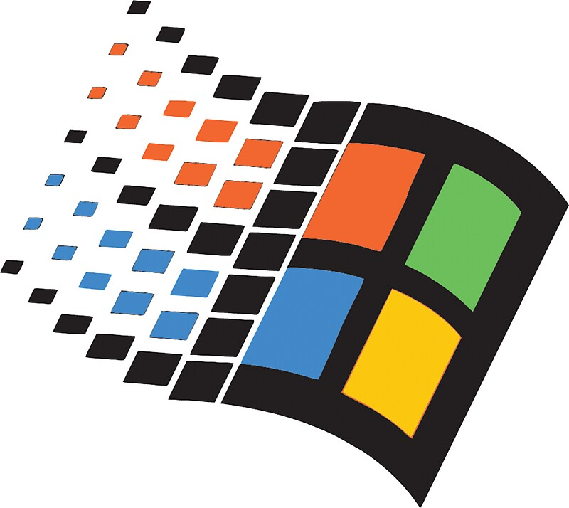 quotwindows 95 logo retroquot stickers by vulgaris1901 redbubble