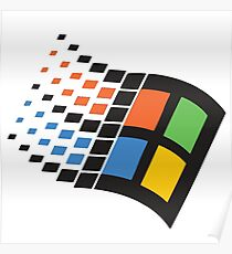 WINDOWS 95 LOGO RETRO Poster