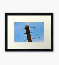 wire sky Framed Print
