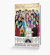 She Persisted. - The Women's March Inaugural Greeting Card