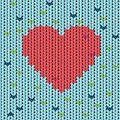 Gestricktes Muster mit Herz von Viktoriia