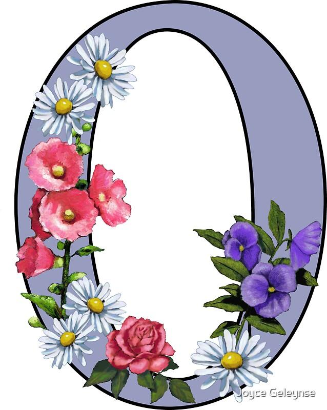 """""""Initial O, Letter, O, Monogram, Alphabet, Flower Art ..."""