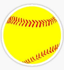 Yellow Fastpitch Softball Graphic Sticker