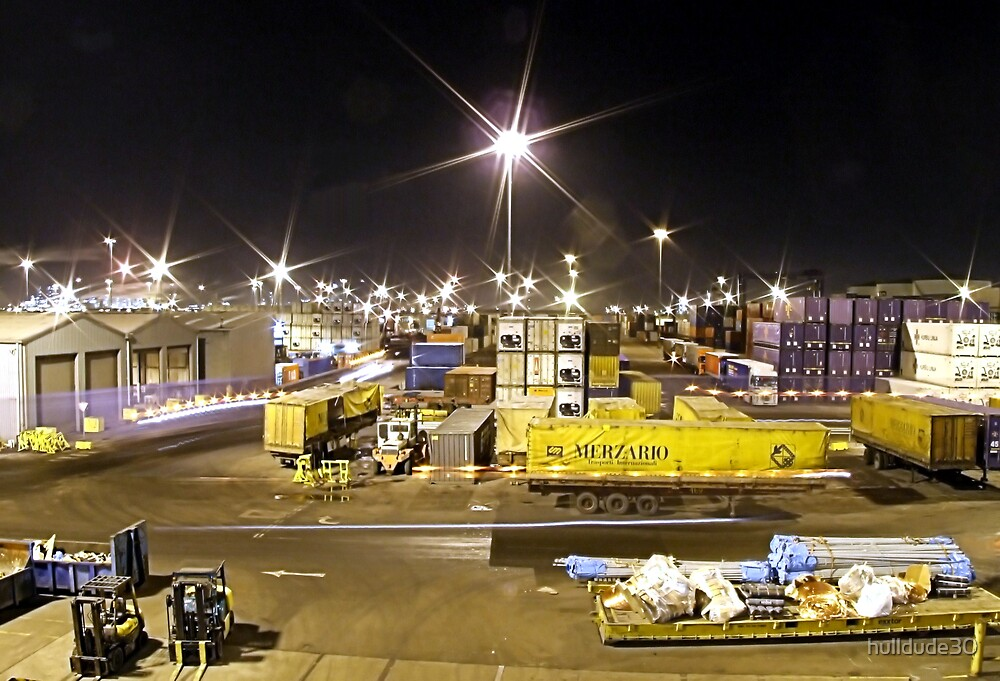 Immingham Dock by Night by hulldude30