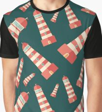 Lighthouse Pattern Graphic T-Shirt
