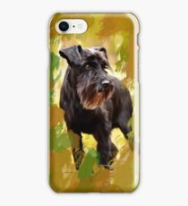Miniature Schnauzer Dog Water Color Art Painting iPhone Case/Skin