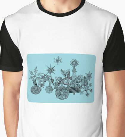 Winter zentangle Graphic T-Shirt