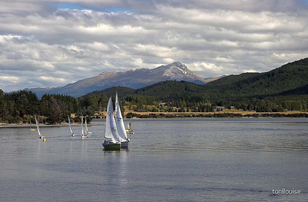 Sailing on Lake Te Anau by tonilouise