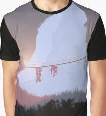 Bridge between mountains 24 x 36 Graphic T-Shirt