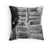Newspapers London September 12 2001 Throw Pillow