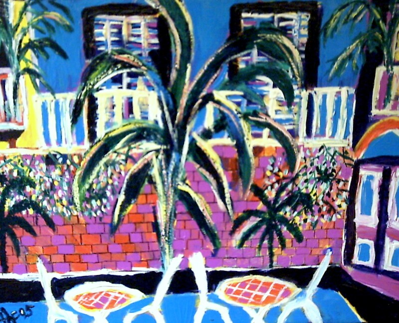 French Quarter Patio by Ted Hebbler