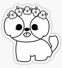 Shih Tzu Puppy with Flower Crown Sticker