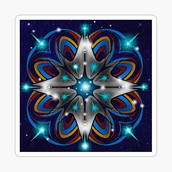 Live Long and Prosper Kaleidoscope Design Sticker