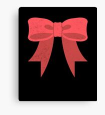 Gift Red Bow Canvas Print