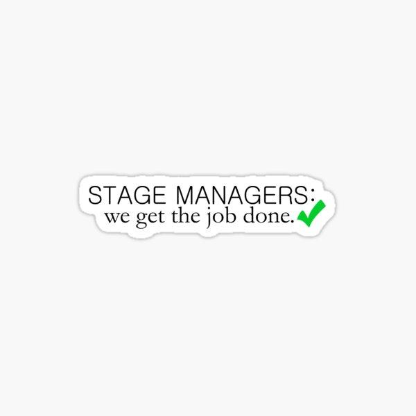 Directores de escena: hacemos el trabajo Pegatina