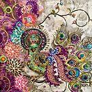 Purple Peacock by Alma Lee