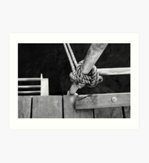 Knotted Rope Art Print