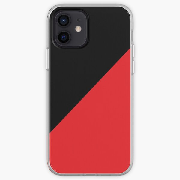 Anarcho-Communist black and red iPhone Soft Case
