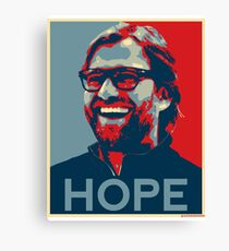 Klopp gives Hope Liverpool Design Canvas Print