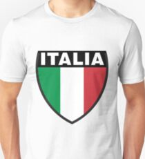 Italy Flag and Shield Unisex T-Shirt