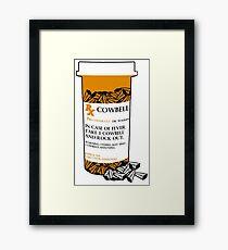 Prescription for Cowbell (outlined) Framed Print