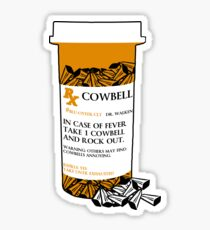 Prescription for Cowbell (outlined) Sticker