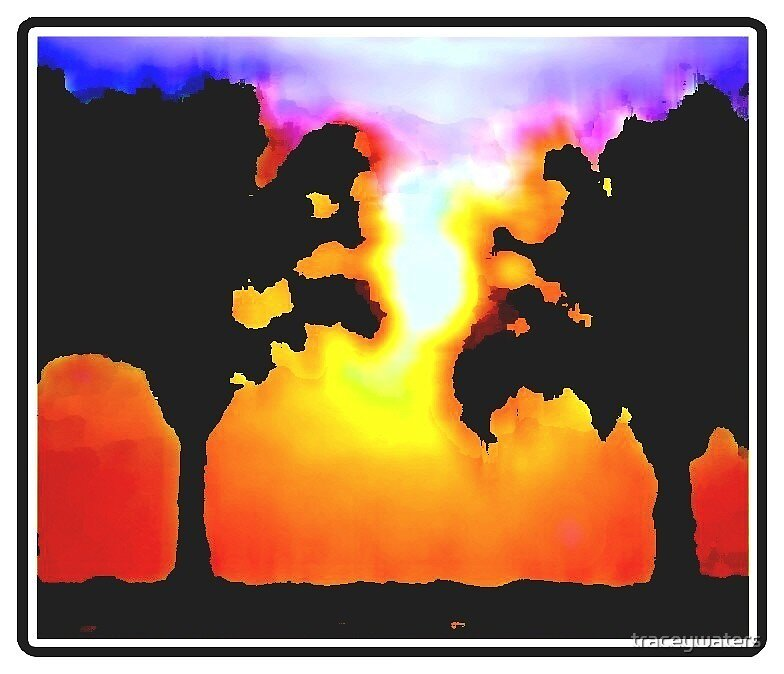 psalm tree sunset by traceywaters