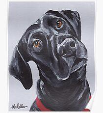 Black lab labrador retriever Art by Lee H Keller Poster