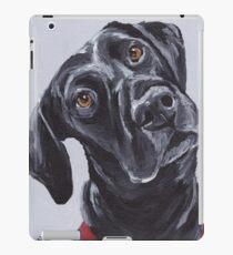 Black lab labrador retriever Art by Lee H Keller iPad Case/Skin