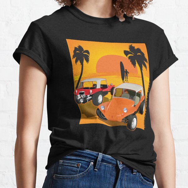 Two Manx Dune Buggies at Sunset with Surfer Classic T-Shirt