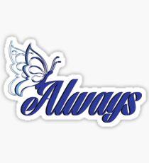 Caskett blue butterfly Sticker