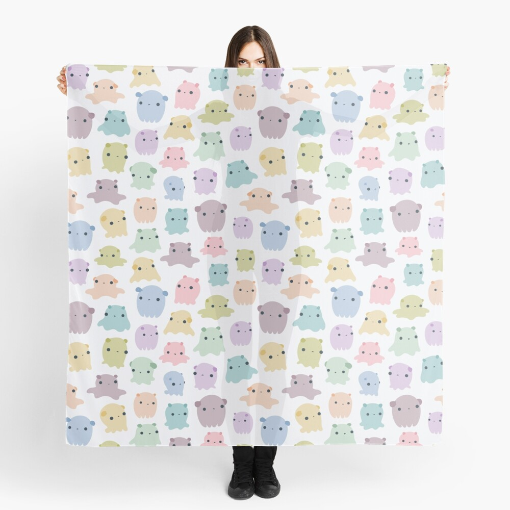 Colourful dumbo octopus pattern Scarf