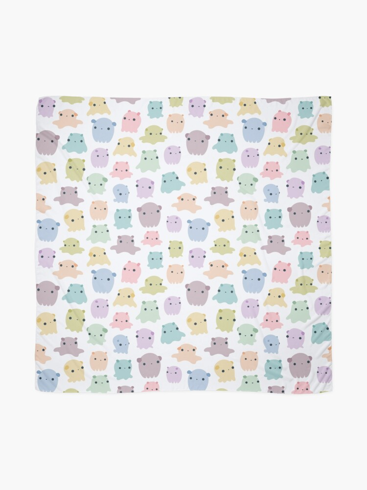 Alternate view of Colourful dumbo octopus pattern Scarf
