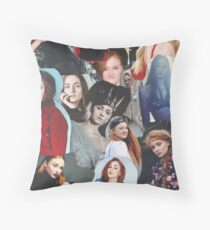 Celebrity: Sophie Turner (Collage) Throw Pillow