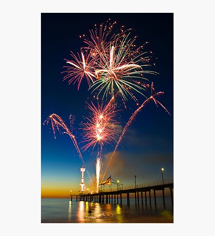 Fireworks at Brighton Photographic Print