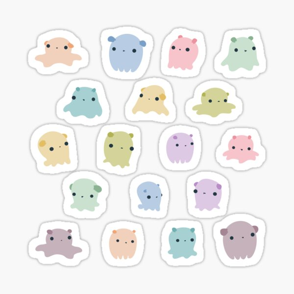 Colourful dumbo octopus pattern Sticker