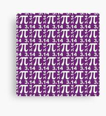 Pi - Pi Day - Purple Canvas Print