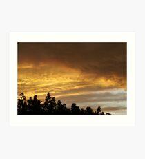 Blazing Sky 1 Art Print
