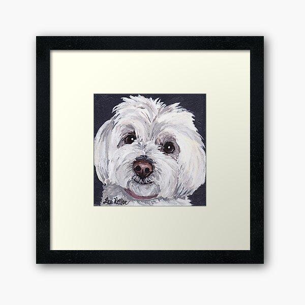 Maltese Dog Art by Lee H Keller Framed Art Print