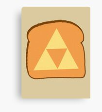 Triforce toast Canvas Print