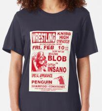 The Revolting Blob Wrestling Poster Slim Fit T-Shirt