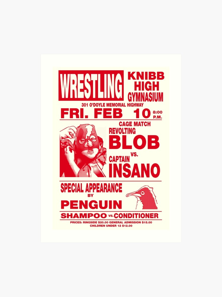 The Revolting Blob Wrestling Poster | Art Print