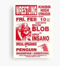 The Revolting Blob Wrestling Poster Metal Print