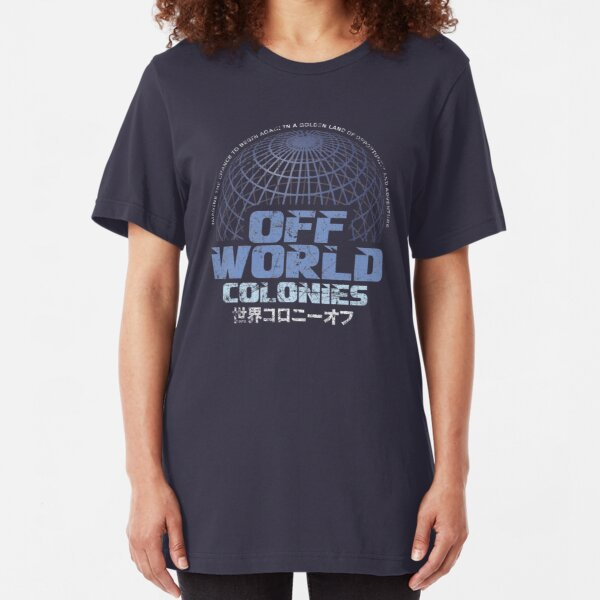 Off World Colonies Slim Fit T-Shirt