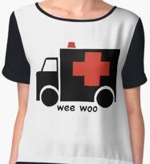 Ambulance Wee Woo Chiffon Top