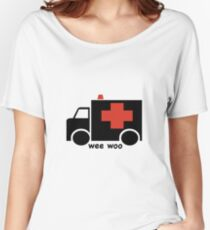 Ambulance Wee Woo Women's Relaxed Fit T-Shirt