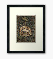 Unicorn in Captivity Unicorn Tapestry Fantasy Framed Print
