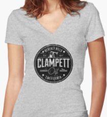 Clampett Oil Women's Fitted V-Neck T-Shirt