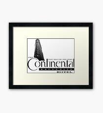 Continental Hotel Framed Print